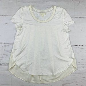 Deletta Anthropologie contrast high low shirt G12